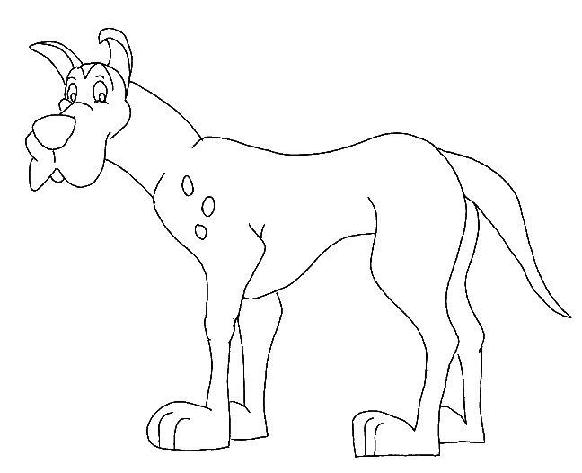 Disegno da colorare cane gigante for Disegni da stampare e colorare di cani
