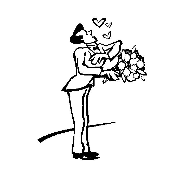 Disegno Da Colorare Uomo Innamorato Con Fiori Immaginidacolorare It